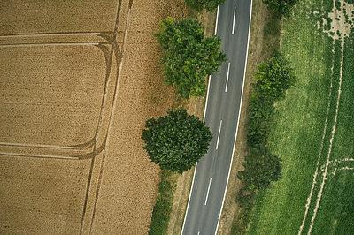 Straße zwischen Feldern - p1294m2231495 von Sabine Bungert