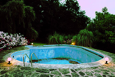 Abandoned swimming-pool - p1289m1125243 by Elisabeth Blanchet