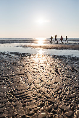 Denmark, Romo, Sandy coastal beach at sunset - p300m2180011 by Anke Scheibe