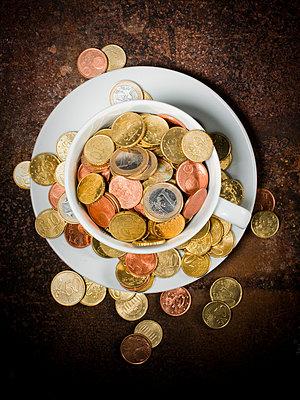Small change in euros - p4266828f by Tuomas Marttila
