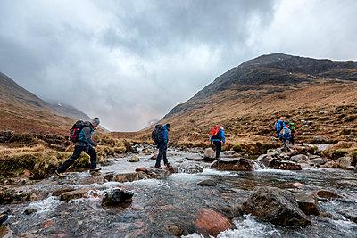 UK, Scotland, Glencoe, trekking at Sron na Lairig - p300m1355979 by Alun Richardson