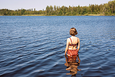 Swimming in the lake - p294m2132888 by Paolo
