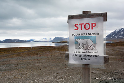 Warnung vor Eisbären - p1486m1585075 von LUXart