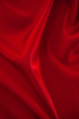 Red silk - p495m906990 by Jeanene Scott