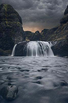 Island, Stjórnarfoss Waterfall - p1280m2208831 by Dave Wall
