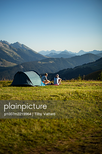 France, French Alps, Camping - p1007m2219964 by Tilby Vattard