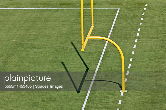 Football Goal Post - p555m1453485 by Spaces Images