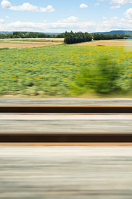 Bahnfahrt über Land - p1096m1028514 von Rajkumar Singh