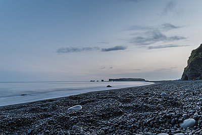 Frozen time on a black sand beach - p1487m1564199 by Ludovic Mornand