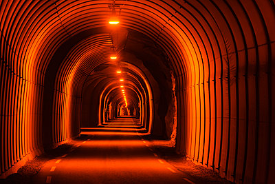 Illuminated tunnel - p312m2092090 by Mikael Svensson