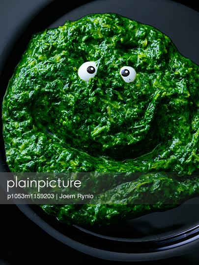 Spinatklecks mit Augen - p1053m1159203 von Joern Rynio
