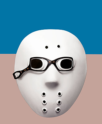 White mask with glasses - p1270m1105878 by Anne Veaute