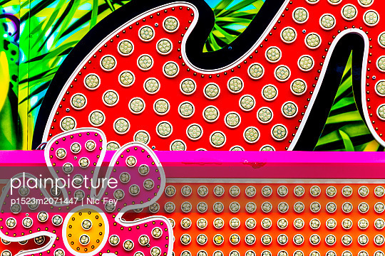 Funfair, Neon sign - p1523m2071447 by Nic Fey