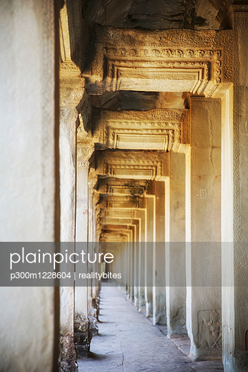 Cambodia, Angkor Wat temple, colonnade