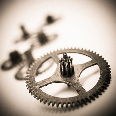 Gear wheel close-up - p813m1217386 by B.Jaubert