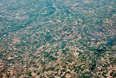 Aerial view, Fields - p913m2125519 by LPF