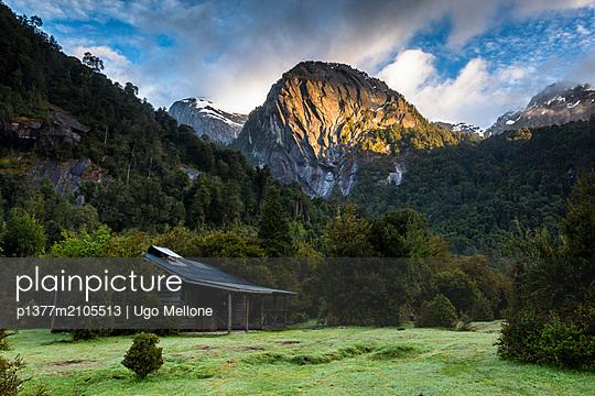 Chile, Los Lagos, Patagonia, Andes, Carretera Austral, Cochamó valley, Cerro la Junta from the camping - p1377m2105513 by Ugo Mellone