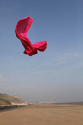 Pink shawl in the air - p8490011 by Eric Zeziola