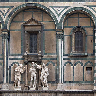 Florence Architectural Details. The Baptistery, Piazza del Duomo - p8552339 by Mike Burton