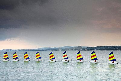 Nine Optimist sailors - p977m858460 by Sandrine Pic