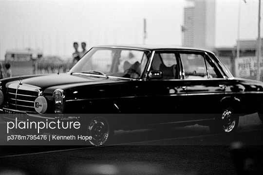 Classic Mercedes saloon - p378m795476 by Kenneth Hope