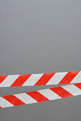 Red and white cordon tape - p3017554f by Halfdark