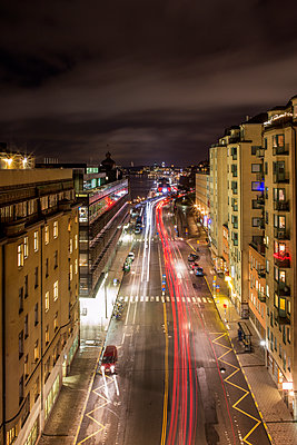 Night View Of Katarinavagen, Stockholm, Sweden  - p847m1443855 by Johan Strindberg