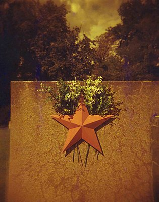 Red star on memorial stone - p1229m2207631 by noa-mar