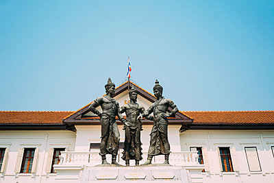 Thailand, Chiang Mai, Three Kings Monument in the city center - p300m2029030 by Gemma Ferrando