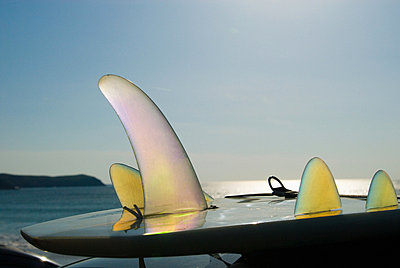 Surfboard in newquay cornwall - p9245827f by Image Source