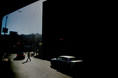 View through window, Manhattan, NYC - p1028m2200639 by Jean Marmeisse