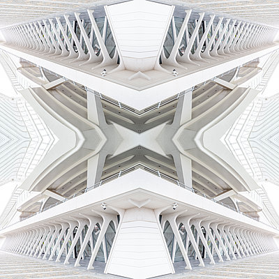 Abstract kaleidoscope pattern Liège-Guillemins station in Liège - p401m2207493 by Frank Baquet