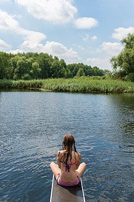 Sommerferien, Stolzenhagener See - p949m929307 von Frauke Schumann