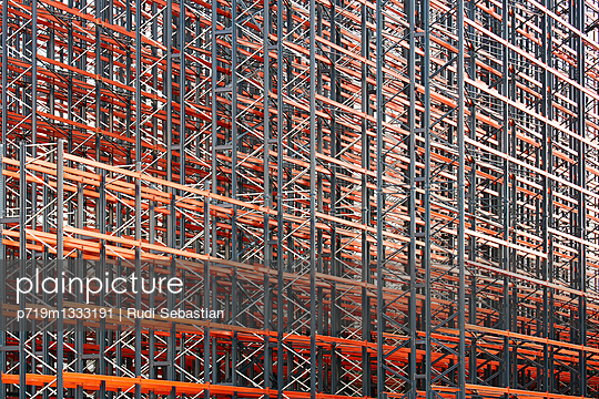 Constructing high rack storehouse - p719m1333191 by Rudi Sebastian