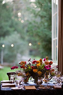 Dining Table at Dusk - p1635m2237747 by Amanda Witt