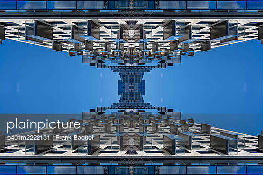 Abstract architectural kaleidoscope Boston - p401m2222131 by Frank Baquet