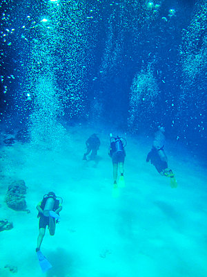 Tourists scuba-diving in sea - p31228766 by Susanne Walstrom