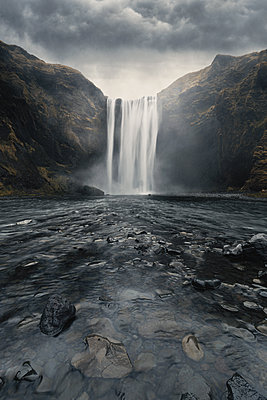 Skogafoss Waterfall - p1280m2150729 by Dave Wall
