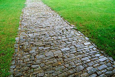 Stone sidewalk - p4424820f by Design Pics