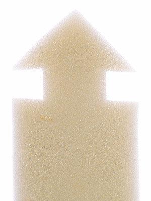 Arrow made of foam - p401m2196109 by Frank Baquet
