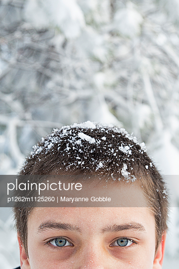 Snow in Hair - p1262m1125260 by Maryanne Gobble
