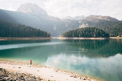 Black Lake, Durmitor National Park, Montenegro - p1600m2184187 by Ole Spata