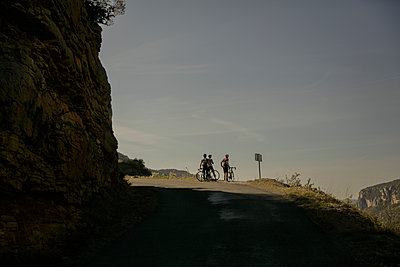 Cycling in the Cevennes - p600m2065519 by Laura Stevens
