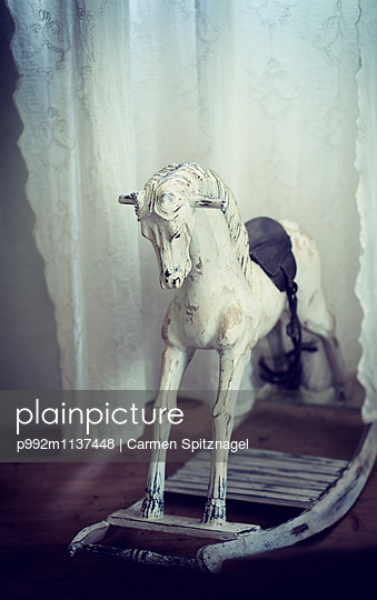 Wooden horse - p992m1137448 by Carmen Spitznagel