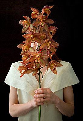 Hinter Blumen - p6780060 von Christine Mathieu