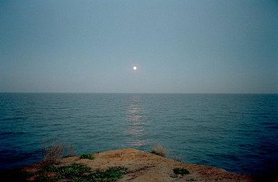 Seascape in moonlight - p3880376 by Ulrike Leyens
