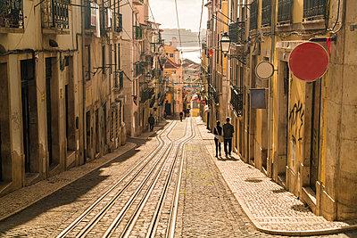Portugal, Lisbon, Funicular tram, Rua da Bica de Duarte Belo - p1332m2197127 by Tamboly