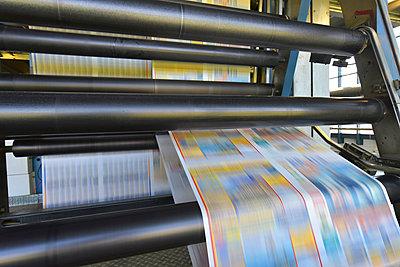 Printing machine in a printing shop - p300m2104429 by Sten Schunke