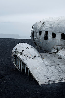 Planewreck on lava soil in Iceland - p947m1586608 by Cristopher Civitillo