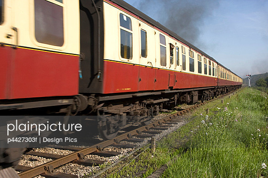 Train In Levisham, England - p4427303f by Design Pics